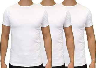 526Jeanswear Men's Stretch Cotton Slim Fit T-Shirts 3 Packs