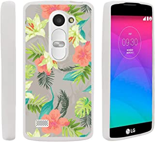 TurtleArmor | Compatible with LG Sunset Case | LG Power Case | LG Destiny Case [Flexible Armor] Ultra Slim Compact Flexible TPU Case Fitted Soft Bumper Cover Girls - Hawaiian Flowers