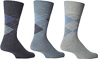 6 Pairs Mens Sockshop Classic Gentle Grip Socks Size 6-11 Uk, 39-45 Eur (RJ21)