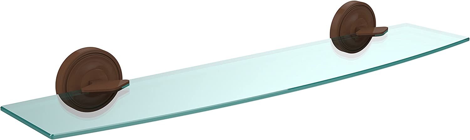 Allied Brass R-33 24-ABZ 24-Inch Beveled 1 4-Inch Glass Shelf, Antique Bronze