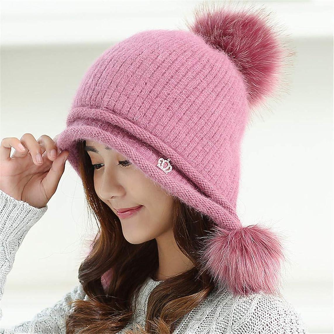 いとこドロー後悔女性の冬のニット帽子に加えて、ベルベットの学生暖かい帽子、イヤーマフ