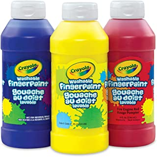 Crayola; Washable Fingerpaint; Art Tools; 32-Ounce Plastic Squeeze Bottle; Bright, Bold Colors; Red