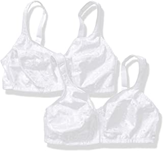 JUST MY SIZE Women's Easy-on Front Close Wirefree Plus Size Bra 2-Pack