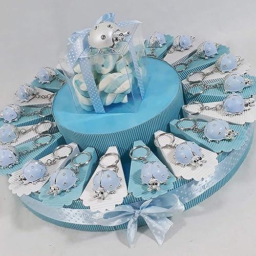 a la venta Tarta Tarta Tarta Bomboniere Mariquita Llavero azul Niño envío incluye cumpleaños bautizo nacimiento  calidad de primera clase