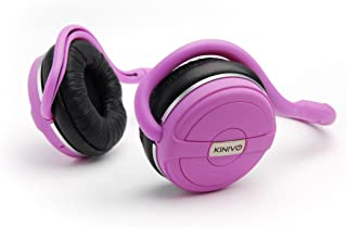 Kinivo BTH240 Bluetooth Headphones (Pink, On-Ear, Wireless Music, Hands-Free Calling, Built-in Mic, Foldable, Memory Form Earpads, Travel Bag)