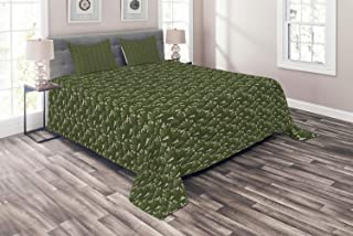 Millxiu 4 Piece Bedding Set Lightweight Soft Duvet Cover Set Cactus Flower Skull Figures Plantation Unique Zipper Closure & Ties Easy Care for Bedroom Evergreen Sage Green Blush Pastel Brown Twin