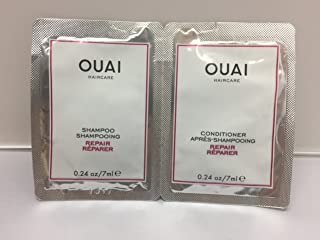 Ouai REPAIR Hair Shampoo and Conditioner Travel Duo 7mL 0.24oz Pack of 12