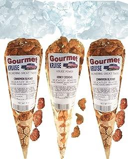 Almonds (2) Cinnamon Roasted (1) Cashews Honey Roasted Delicately (NET WT 14.5 OZ) Gourmet Kruise Signature Gift Bags