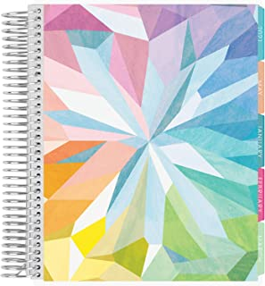 $58 » Erin Condren 12 - Month 2021 Coiled Life Planner (January - December 2021) - Kaleidoscope Colorful Cover, Horizontal Weekl...