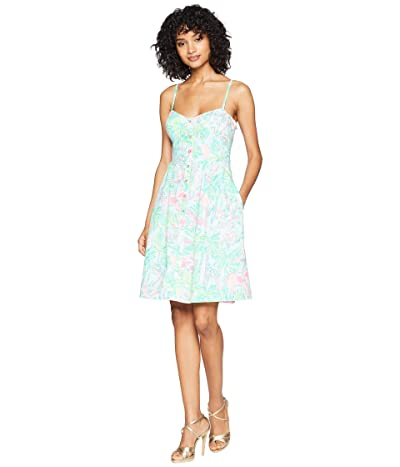 Lilly Pulitzer Easton Dress (Seasalt Blue on Parade) Women