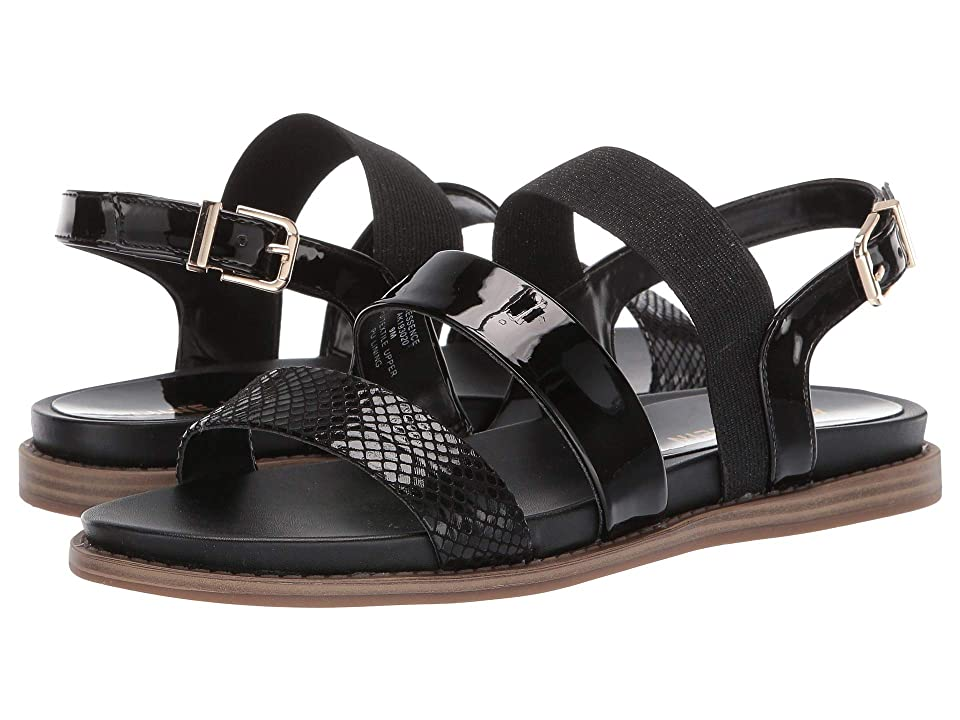 Anne Klein Essence Flat Sandal (Black) Women