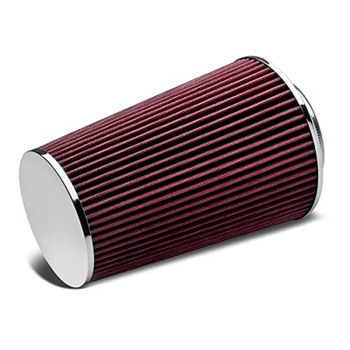 """RED UNIVERSAL 2.75/"""" SMALL AIR FILTER FOR DODGE//JEEP AIR INTAKE+PIPE"""