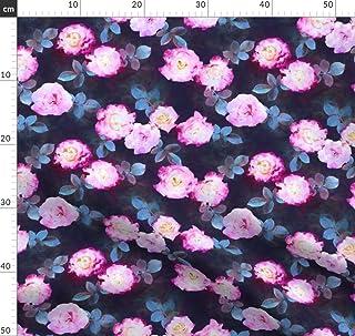 Rosen, Dunkel, Segeltuch, Vintage, Rosa Stoffe - Individuell Bedruckt von Spoonflower - Design von Micklyn Gedruckt auf Leinen Baumwoll Canvas