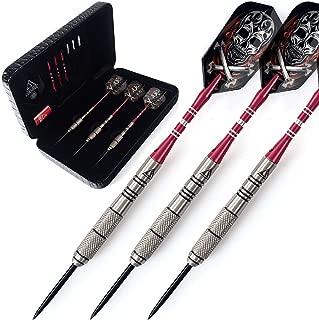 90% Professional Tungsten Steel Tip Darts 22/24/26 Grams-Precise Barrels with Black Dart Case/Luxury Dart Case