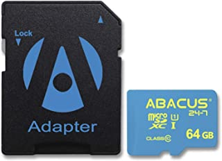 Abacus24-7 Nintendo Switch Memory Card, 64GB microSDXC with SD Adapter for use in Nintendo Switch Gaming System