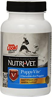 Nutri-Vet Multi-Vite Chewables for Puppies | Formulated with Vitamins & Minerals to Support Balanced Diet | 60 Count