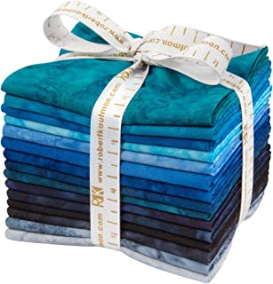Robert Kaufman Fabrics Lunn Studios Artisan Batiks Prisma Dyes Open Waters 15 Fat Quarters FQ-829-15
