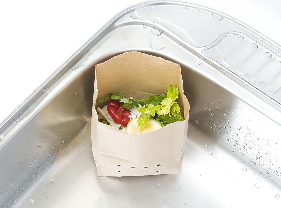 ライター実用的アルバニー紙製水切りゴミ袋(無地)100枚