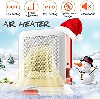 LQ&XL Calefactor Portátil Eléctrico,PTC Elemento de Cerámica Ventilador de Aire Caliente 750W / 1400W / Protección de Sobrecalentamiento para Cuarto/Baño/Oficina