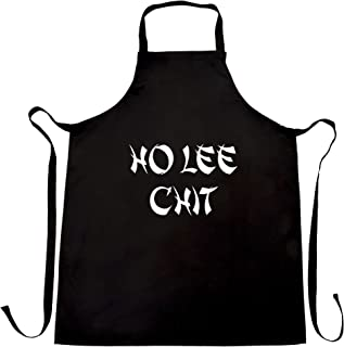 Novelty Chef's Apron Ho Lee Chit Cheeky Rude Slogan Black One Size