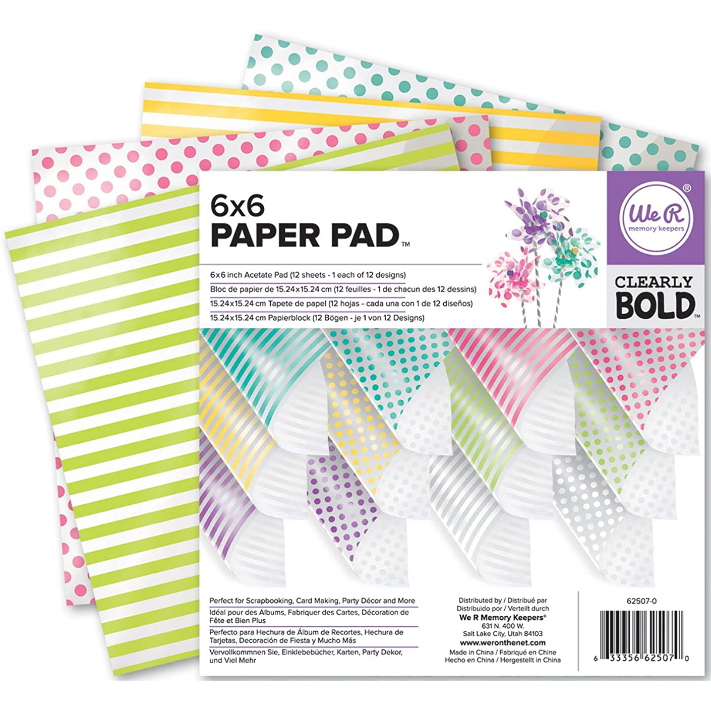 We R Memory Keepers Clearly Bold 6 X 6 Inch Acetate Paper Pad