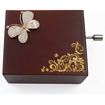 Mini handcrank Caja de música (Melodía de la piel Elise: Amazon.es ...