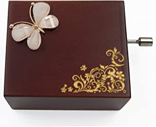Image of Miniature Handcrank Butterfly Music Box