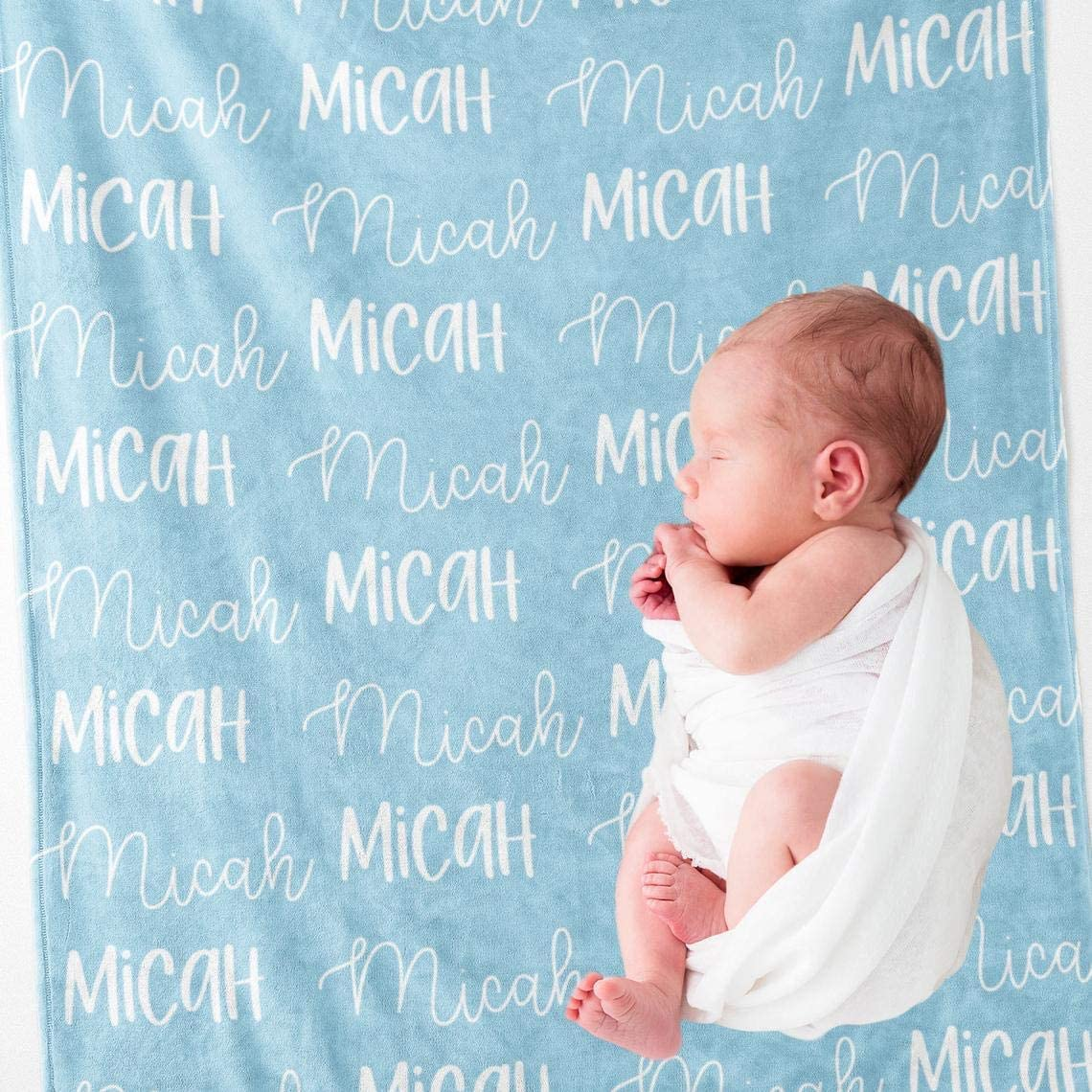 Personalized Name 買い物 Blanket for Your Children Custom Baby B 直営限定アウトレット Throw