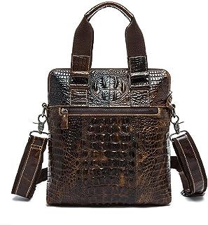 """Men's Accessories for 9.7"""" Tablet,Men's Vintage Leather Satchel Briefcase Embossed Crocodile Pattern Shoulder Handbag Messenger Tote Bag Outdoor Recreation"""