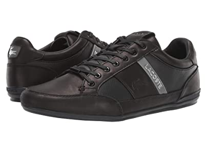 Lacoste Chaymon Premium 319 1 U (Black/Dark Grey) Men