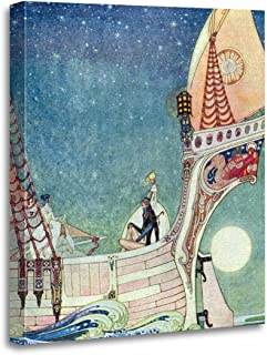 TORASS Canvas Wall Art Print Prints The Man Who Never by Kay Nielsen Vintage Artwork for Home Decor 16