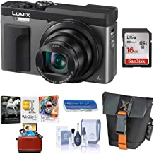 Panasonic LUMIX DC-ZS70S, 20.3 Megapixel, 4K Digital Camera, Touch Enabled 3-inch 180 Degree Flip-Front Display, 30X Zoom (Silver), Bag + 16GB SD Card + Mac Software Kit + Cleaning Kit + Card Reader