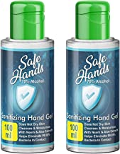 SafeHands Hand Sanitizer Travel 2 Pack X 100 ml With Neem & Aloe Vera Extracts