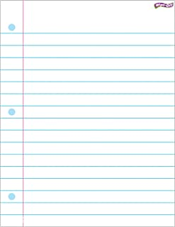 TREND enterprises, Inc. T-27308BN Notebook Paper Wipe-Off Chart, 17