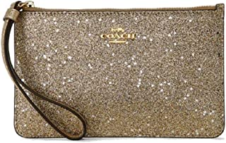Coach Small Wristlet With Star Glitter Print-Imnua