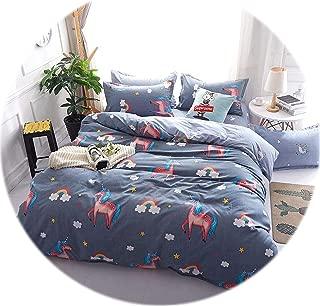 Memoirs- 2019 New Bedding Sets Single King Size 2-3PCS Duvet Cover Set, 4PCS Set for Duvet Cover Bed Sheet Pillowcase,Bed Set Beddingset,03,Double,2-3PCS Set