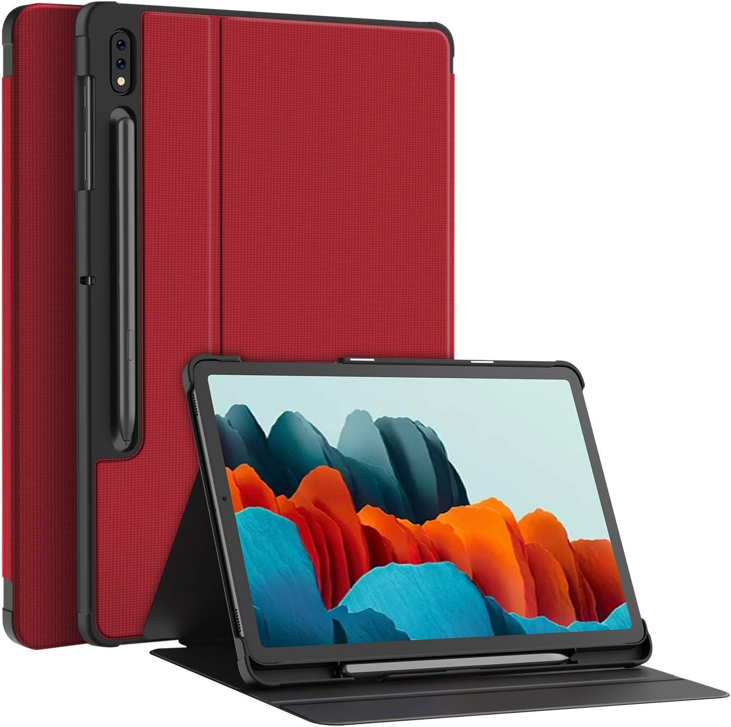 Funda roja para Samsung Galaxy Tab S7 de 11 pulgadas.