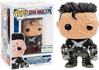 Crossbones (Exclusivo de B&N): Capitán América - Guerra Civil x Funko POP! Figura de vinilo de Marvel y 1 POP. Paquete de protectores gráficos de plástico PET [# 139 / 07797 - B]