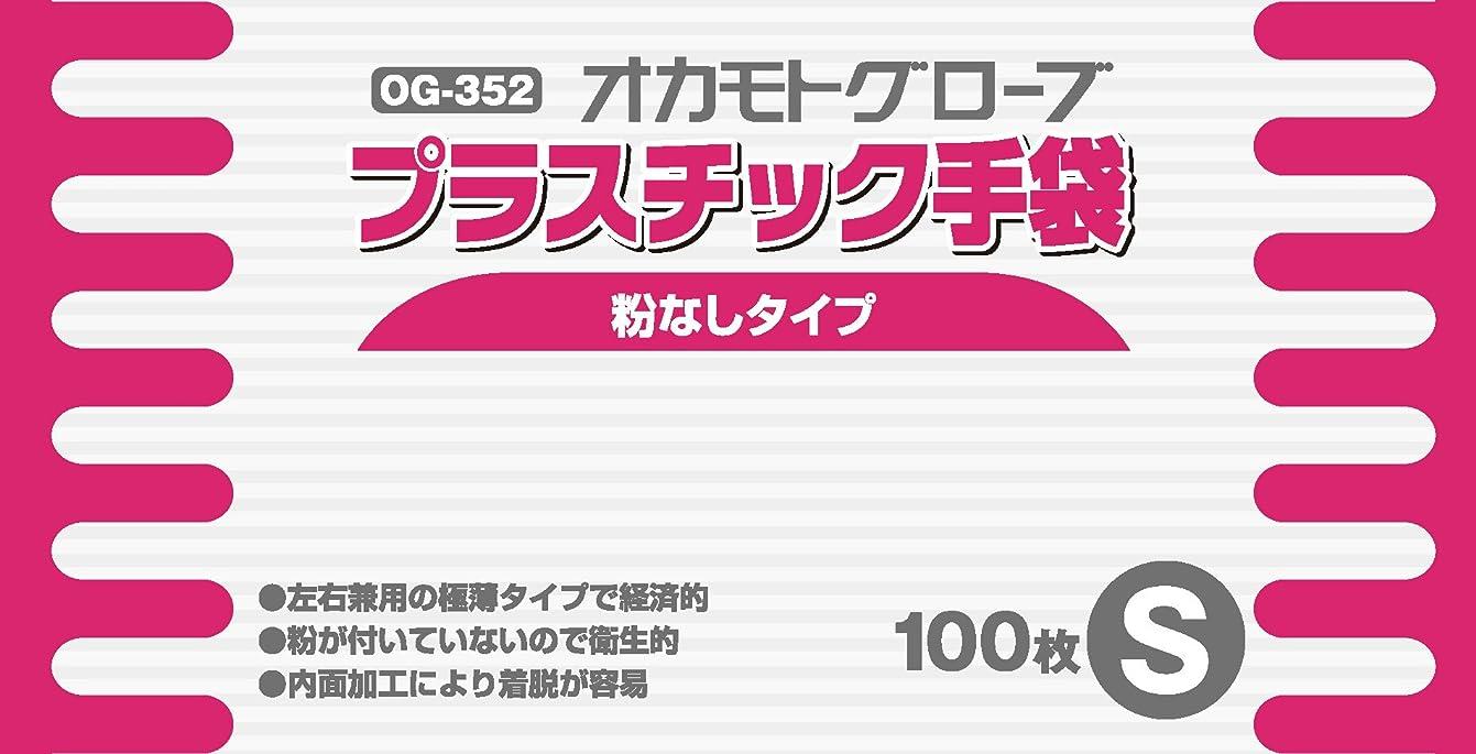 計算可能郵便屋さん受け継ぐオカモトグローブ プラスチック手袋 Sサイズ 100枚入