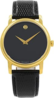 Movado Museum Quartz Male Watch 2100005 (Certified Pre-Owned)