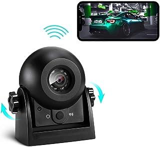 Cámara Vision Trasera para Coche Inalambrica Uzone Magnética Cámara Trasera Coche WiFi IP67 Impermeable & Súper Visión Nocturna & Vista Gran Angular & Sísmica Prevención Polvo para Caravana Camión