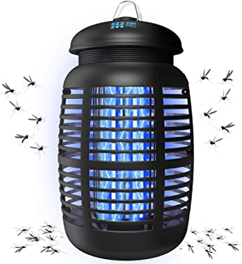 [2 in 1] Bug Zapper & Attractant - Effective 4250V Electric Mosquito Zappers Killer - Insect Fly Trap, Waterproof for Indoor