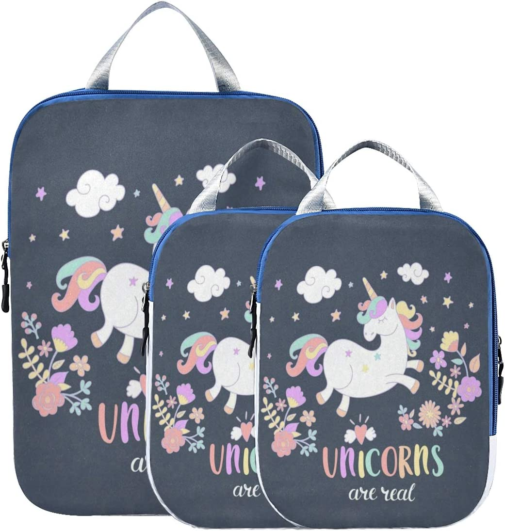 Packing Cubes Unicorn Are Real Charlotte Mall Lovely Organizer Charlotte Mall Flower Suitcase