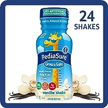 PediaSure Grow & Gain Kids' Nutritional Shake, with Protein, DHA, and Vitamins & Minerals, Vanilla, 8 fl oz, 24-Count