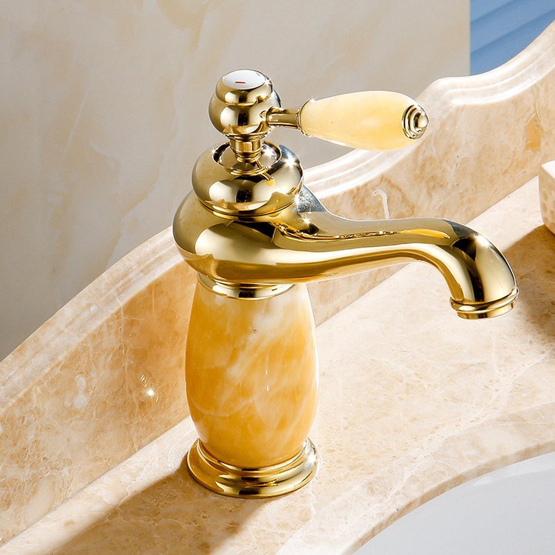 Hlluya Professional Sink Mixer Tap Kitchen Faucet The Copper Basin natural jade faucet gold plated basin Wong Yuk
