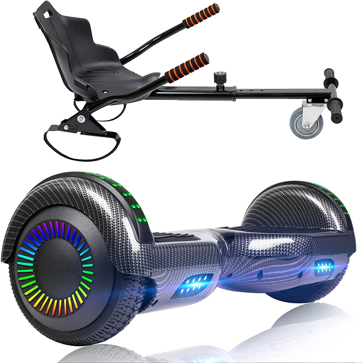SISIGAD Hoverboard with Seat Attachment Ho 6.5