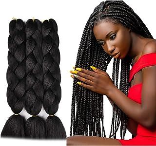 SuCoo Kanekalon Jumbo Braiding Hair Extensions High Temperature Fiber Crochet Twist..