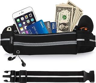 USHAKE Gear Running Belt with Extender, Bounce Free Pouch Bag, Fanny Pack Workout Belt Sports Waist Pack Belt Pouch for Ap...