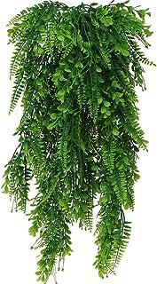 DXLing 2Pcs Lierre Artificielle Plantes Fougère Artificiel Fausse Plante Boston Feuille Fausses Fougères Artificielles Pla...