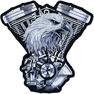 Lethal Threat (LT30134 Eagle V-Twin Engine Embroidered Patch (11